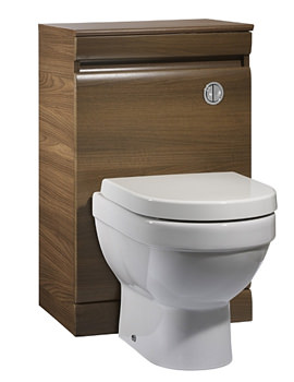 Related Tavistock Groove Back To Wall WC Unit 500mm Walnut - GR5BTWAW
