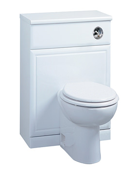 Image of Tavistock Aspen 500mm White Back To Wall WC Unit Including Worktop