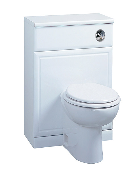 Large Image of Tavistock Aspen 500mm White Back To Wall WC Unit - A50BTWW