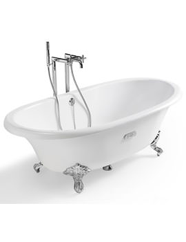 Free Standing Cast Iron Bath 1700 x 850mm White - 233650007