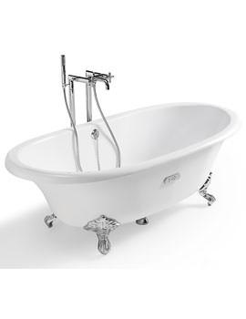 Free Standing Cast Iron Bath 1700 x 850mm White - 233650007