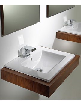 Image of Phoenix Inset Basin 400mm x 410mm - VB045