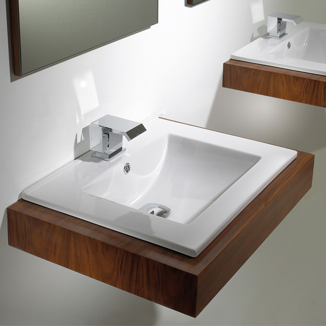 Large Image of Phoenix Inset Basin 400mm x 410mm - VB045