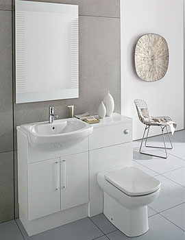 Image of Roca Smooth Compact Back To Wall WC Unit 480mm Wide | 856BT0000