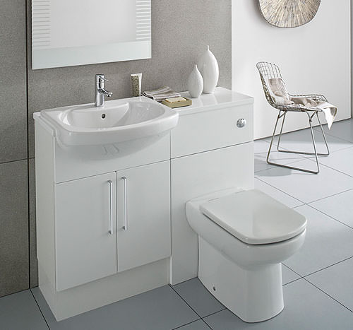 Large Image of Roca Smooth Compact Back To Wall WC Unit 480mm Wide - 856BT0000
