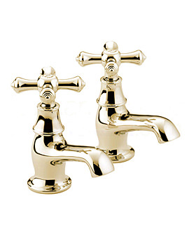 Colonial Bath Taps Gold - K 3-4 G