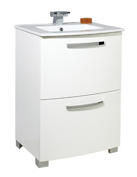 Bow 600mm Floor Standing Unit And Basin - FB003