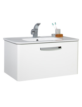 Image of Phoenix Dee 800mm Wall Mounted Unit And Basin - FD80W