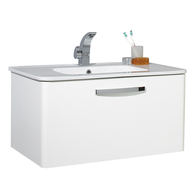 Large Image of Phoenix Dee 800mm Wall Mounted Unit And Basin - FD80W