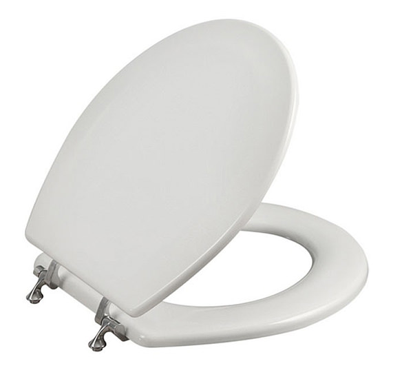 Tavistock Premier Toilet Seat With Gold Hinges White
