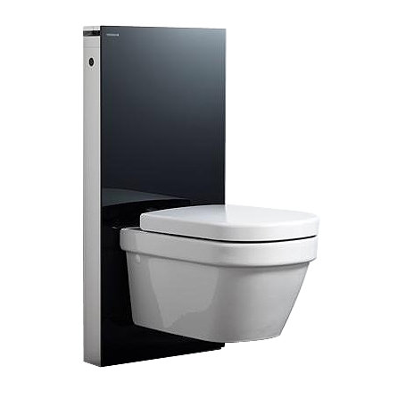 geberit monolith black for wall hung wc black glass. Black Bedroom Furniture Sets. Home Design Ideas