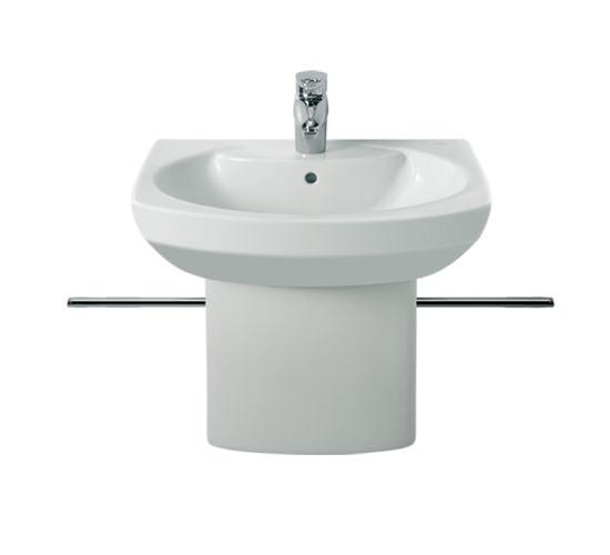 Roca senso compact cloakroom basin with semi pedestal for Roca cloakroom basin