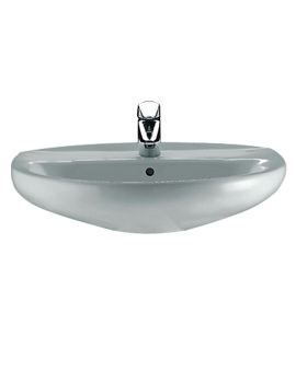 Roca Laura 1 Tap Hole Wall Hung Basin 600mm Wide - 326392005