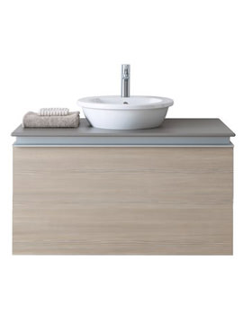 Related Duravit Starck 1 530mm Basin With Darling New Pine Terra 600mm Vanity Unit