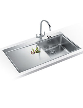 Image of Franke Mythos Pro Pack MMX 211 Stainless Steel Kitchen Sink And Tap