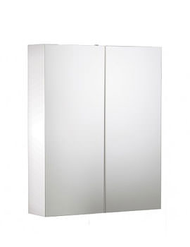 Signatures Double Mirror Door Cabinet White 600mm - SGC6W