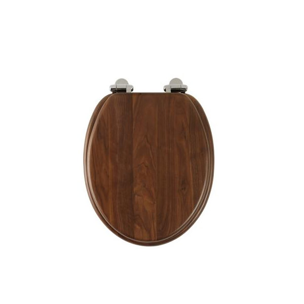 roper rhodes traditional walnut solid wood toilet seat