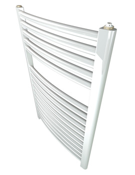 Related Stelrad Ladder Curved 500mm Wide x 750mm High White Towel Rail