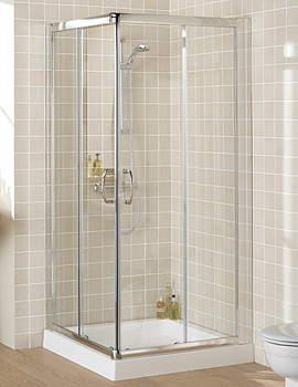 Lakes Classic Semi Frame-less Corner Entry Shower Cubicle 800mm