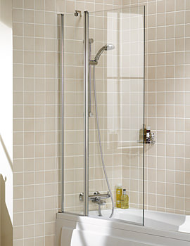 Classic Double Panel Bath Screen 944 x 1500mm Silver
