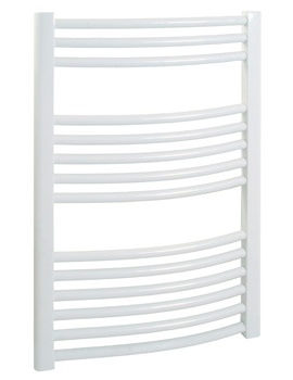 Related Stelrad Esprit 550mm Curved Wide x 900mm High White Towel Rail