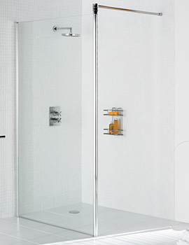 Related Lakes Classic Walk In Shower Screen 1000 x 1900mm Silver - LKSS1000 05