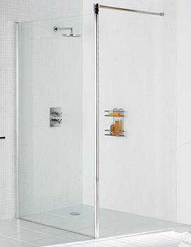 Classic Walk In Shower Screen 1200 x 1900mm Silver - LKSS1200 05