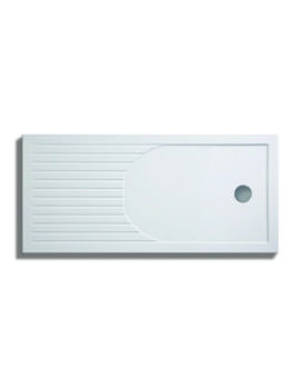 Lakes Low Profile ABS 1400 x 900mm Tray With Curved Raised Drying Area