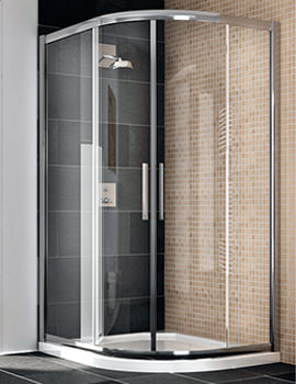 Manhattan Quadrant Offset Duo Shower Enclosure 1000 x 800mm - M8CL18QDC