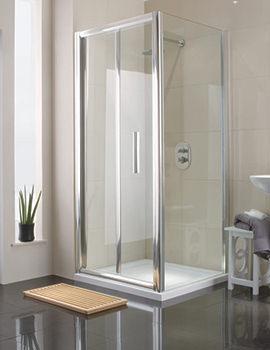 Manhattan 800mm Bi-Fold Shower Door White - M8CL80FDW