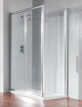 Manhattan 1700mm Straight Sliding Shower Door Chrome - M8CL17SDC