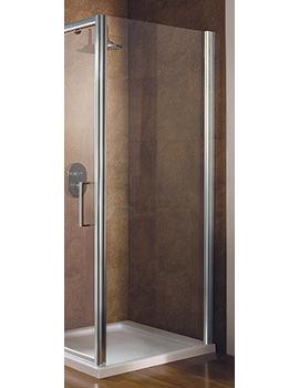 Manhattan 1000mm Shower Enclosure Side Panel Silver - M8CL10SPS