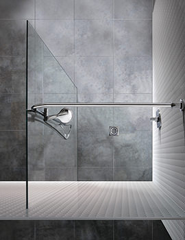 Manhattan Wetroom Panel With Flow Water Delivery System 900mm