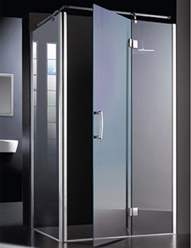 Manhattan Minimal Hinged Shower Door 800mm - M8CL80MHDCL