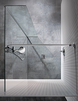Manhattan Wetroom 1000mm Front And Return Panel With Flow Water System
