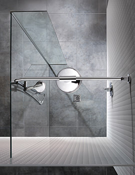 Manhattan Wetroom 900 Front And Return Panel With Flow Drencher System