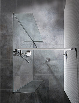 Manhattan Linear Wetroom 1000mm Front And Return Panels With Flow Water