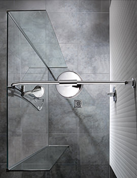 Manhattan Linear Wetroom 1200mm Front And Return Panels With Drencher