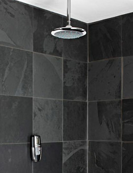 Galaxy Aqua Digitemp Digital Mixer Shower And Emilia Fixed Shower Head