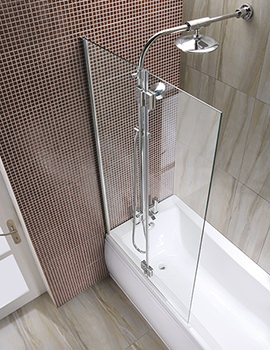 Manhattan 2 Panel Hinged Screen With Shower System And Drencher