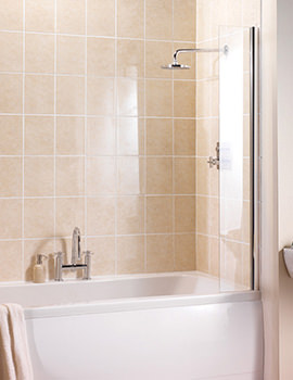 Manhattan Fixed Panel Bathscreen 250 x 1500mm - M3CLFSCC