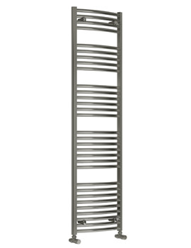 Reina Diva Curved Heated Towel Rail 600 x 1800mm Chrome