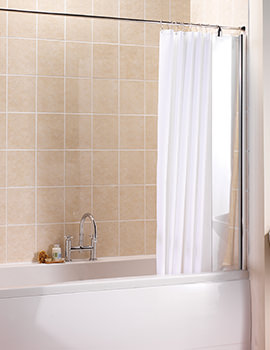 Manhattan Straight Shower Curtain And Rail With Fixed Panel Screen