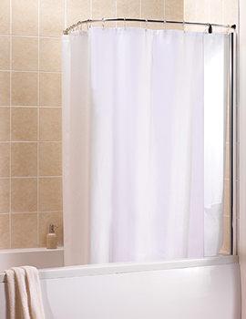 Manhattan Curved Shower Curtain And Rail - M3CLCSCRC
