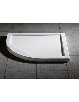 Manhattan Duralite Quadrant Shower Tray 800 x 800mm - DNQD80W