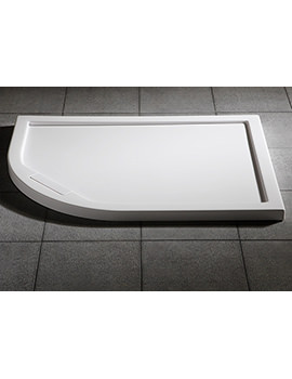 Manhattan Duralite Offset Quadrant Shower Tray 900 x 800mm - DNQD98WL