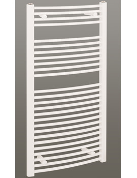 Reina Diva Curved Heated Bathroom Radiator 400 x 1200mm White