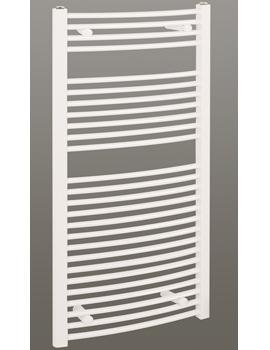 Reina Diva Curved Heated Bathroom Radiator 400 x 1200mm White