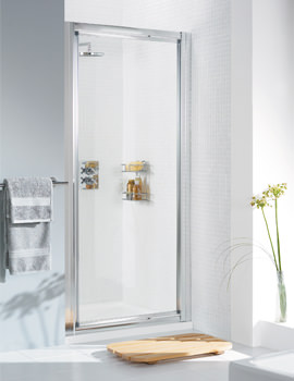 Lakes Classic Silver Framed Pivot Door 750 x 1850mm - More Sizes Available