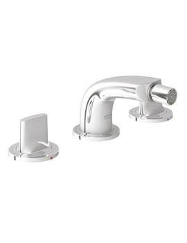 Ondus 3 Hole Bidet Mixer Tap Chrome - 24031 000